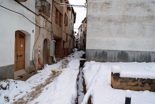 El carrer de Sant Andreu, durant els fets.