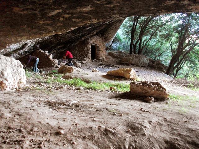 La gran balma, anomenada cova del Serret.