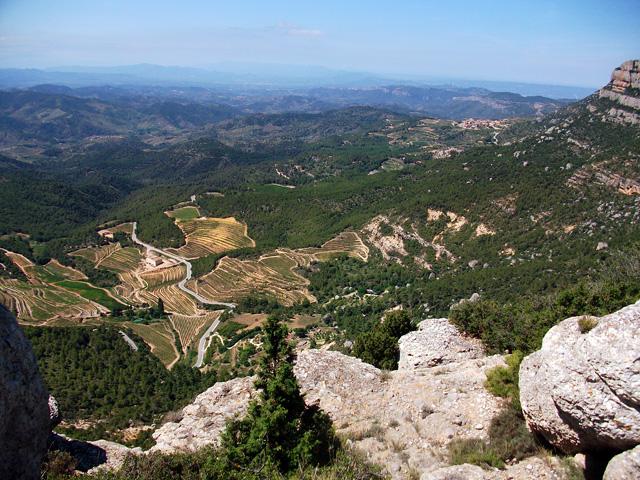 Comencem a baixar el grau del Montsant, amb vistes esplèndides del Priorat.