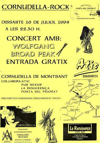 Cartell del concert de 1994. (Eduard Cortiella).