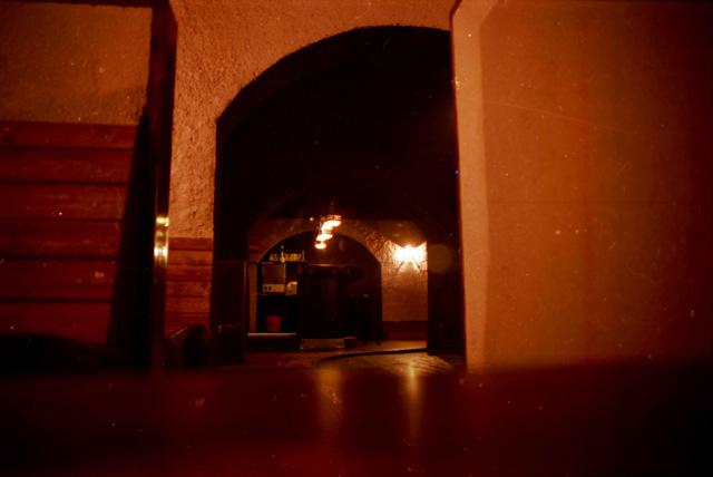 El pub, vist des d'un dels racons on hi havien seients. (Foto: Miquel Butet)