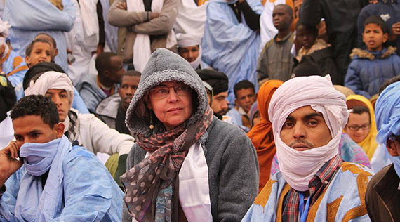 Elena Morató, aquest passat gener al 'Festival des Villes Anciennes' a la ciutat de Chinguetti, Mauritania. Foto: Yahya Ka