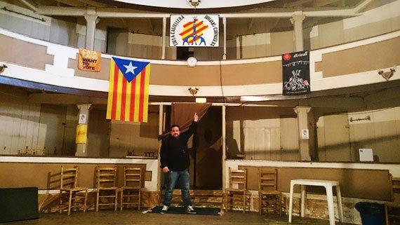Dins el local d'assaig dels Brivalls. Foto: Carles X. Cabós.