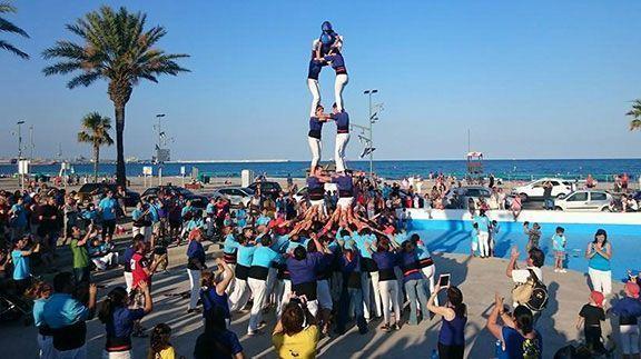 2de6 dels Brivalls a la Pineda, el dia de Sant Joan. Foto: Elisabet Josa
