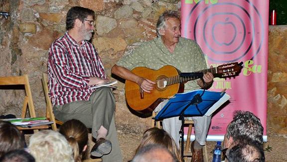 Ramon Solsona i Jaume Arnella, en la darrera edició del festival EVA de Pradell. Foto: Joan Juvé Fernandez.