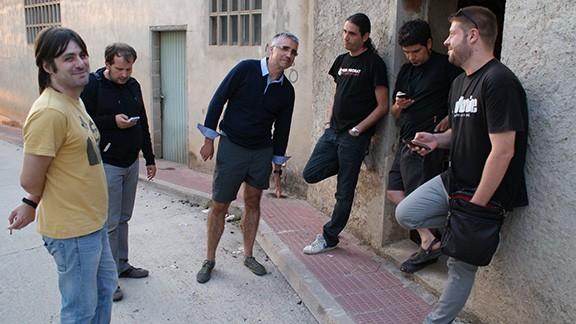 Després de l'assaig, a l'exterior del local. Foto: Carles X. Cabós.