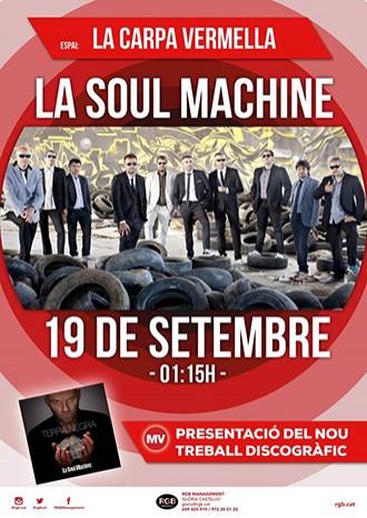 Cartell del concert de La Soul Machine al Mercat de la Música Viva de Vic.