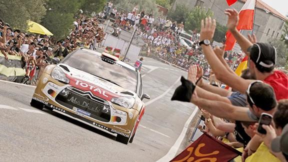 Una imatge del Rally RACC Catalunya de l'edició 2014, al seu pas pel Priorat. Foto: A. Lavandinho - B. Cardoso / rallyracc.com