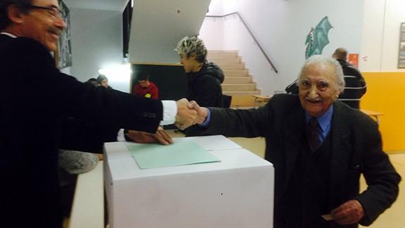 Àlvar Busquets Estivill, participant en les votacions del 9 de novembre de 2014 a Cornudella de Montsant. Foto: Xavier Estivill