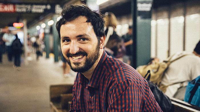 Lluís Capdevila, al Metro de Nova York, aquest passat mes de novembre. Foto: Josh Goleman.