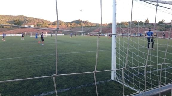 Imatge d'arxiu del camp de futbol de Falset. Foto: Carles X. Cabós.
